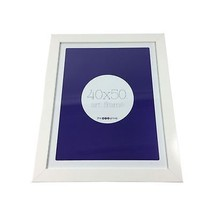 Plain White Wooden Glass Wall Hanging Picture Photo Frame 47CM X 57CM X 2CM - $22.01
