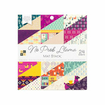 """DCWV No Prob Llama 6x6"""" Mat Stack, Cardstock Double-Sided, 24 Sheets"""