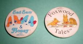 Sad Sam & Honey and Foxwood Tales Vintage Round Erasers 80's FUN School ... - $3.96