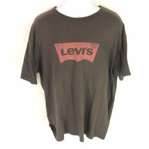 Levis Mens T Tee Shirt Short Sleeve Red Logo Spell Out XL - £11.35 GBP
