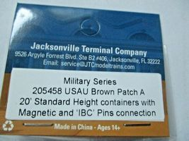 Jacksonville Terminal Company # 205458 USAU 20' Military Series Container (N) image 4