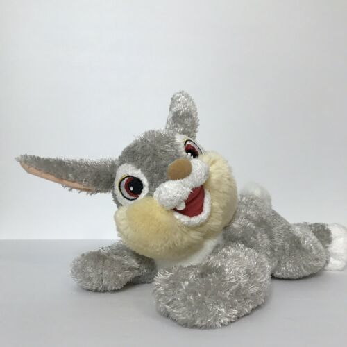 "Disney Nicotoy Thumper Bunny Rabbit Plush Stuffed Animal Beanie 11"" Laying"
