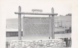 Vintage real photo postcard kodak rppc-virginia city historical sign - $4.94