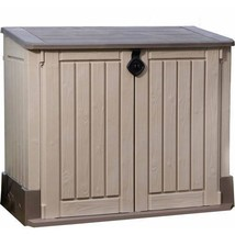 Keter Store-It-Out Midi 30-Cu Ft Resin Storage Shed Weather And Fade Res... - $166.01