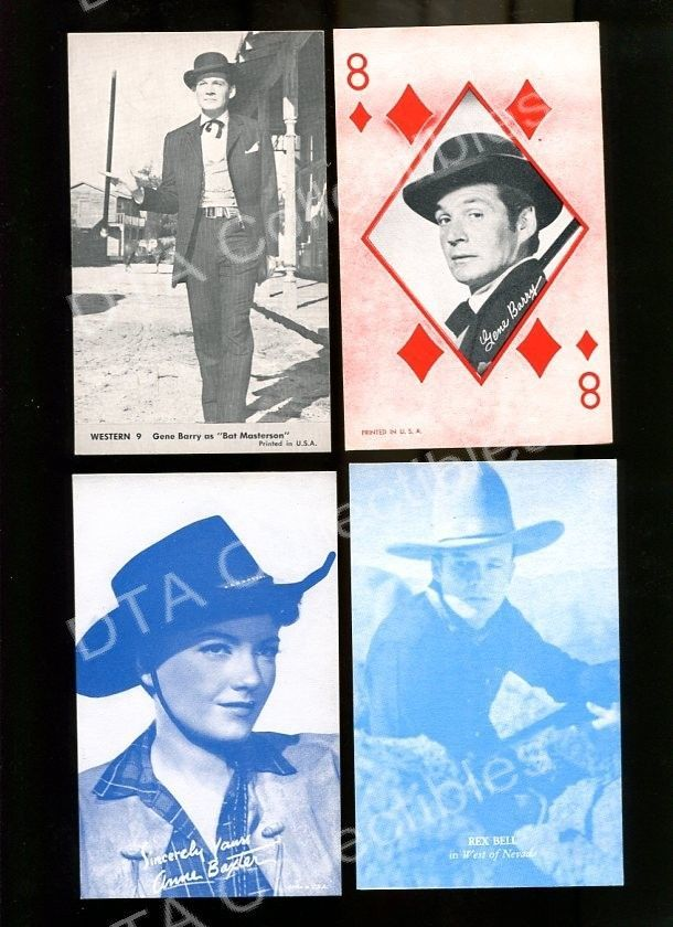 Primary image for GENE BARRY/ANNE BAXTER/REX BILL-ARCADE CARD-WESTERN FR/G