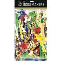 Noisemakers Assorted Value Pack New Years Eve Party Supplies 40 pc Plastic - $24.69