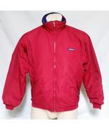 VTG Patagonia Jacket Fleece Lined Coat Outdoors Ski Big Logo Sailing Spo... - $74.99