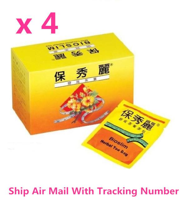 Bioslim Tea Bio Slim Mild Laxative Herbal Tea Bags ( 30 Bags / Box) x 4 Boxes  - $45.00