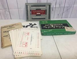 Vtg Auto Bridge Game Set Autobridge 1950's 4 Handed Advanced PGA W Cards - $9.85