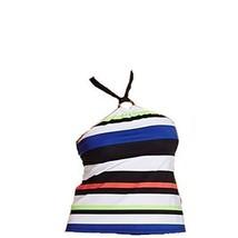 Ralph Lauren Women's New $93 Striped Halter Tankini Top Multi (12) - $49.49