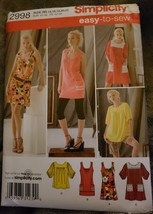 Simplicity 2998 Easy To Sew Dress Tops Variations Womans 14 16 18 20 22 ... - $6.70