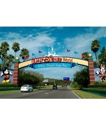 DISNEY WORLD RESORT ENTRANCE POSTER | 24 x 36 INCH | AWESOME! - £15.83 GBP