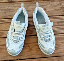 Skechers Size 9.5 Shape Ups Gray and White Leather Athletic Walking Hiki... - £29.74 GBP