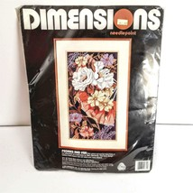 Dimensions 2372 Needlepoint Peonies and Fan Kit 10 x 18 Geremia Floral S... - $44.97
