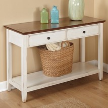 Entryway Console Table Rustic Sofa Accent with Drawers Farmhouse Country... - €188,04 EUR