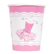 Pink Ballerina 8 9oz Paper Hot Cold Cups Birthday Dance Recital - $2.99