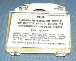 STYLUS NEEDLE for Ronette 105 208 BF40 Perpetuum Ebner PE-90 DC500 33/45RPM image 2