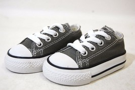 Converse All Star Chuck OX 7J794 Charcoal Baby Toddler Shoes - $29.95