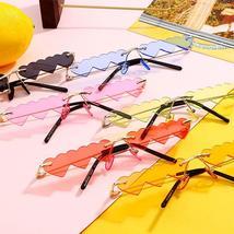 Heart Shaped Sunglasses women metal Women Brand Designer Fashion Rimless LOVE Cl image 6