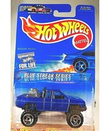 1996 Hot Wheels #574 Blue Streak Series 2/4 NISSAN TRUCK Blue w/Chrome SB Spokes - $14.00
