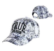 True Religion Men's Graffiti Patterned Logo Baseball Cap Sports Strapback Hat image 1