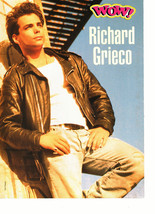 Richard Grieco teen magazine pinup clipping hands in pockets by a wall bulge