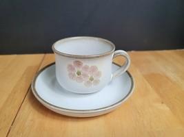 Denby Langley Potters Gypsy Cup & Saucer Set Pink Lavender Flowers  - $5.93