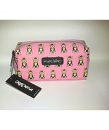NEW Marc Tetro Yorkie Dog Cosmetic Makeup Bag Case Pink Yorkshire Terrier - $25.00