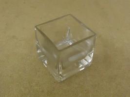 Designer Flower Pot 2 1/2in x 2 1/2in x 2 1/2in Clear Modern Rectangular... - $14.28