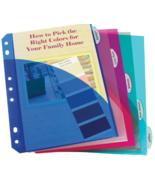 C-Line 03570 Asst. Color 5-Tab Poly Index Dividers w/ Pockets - $9.40