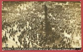 Detroit MI Postcard WW One Peace Celebration RPPC BJs - $49.99