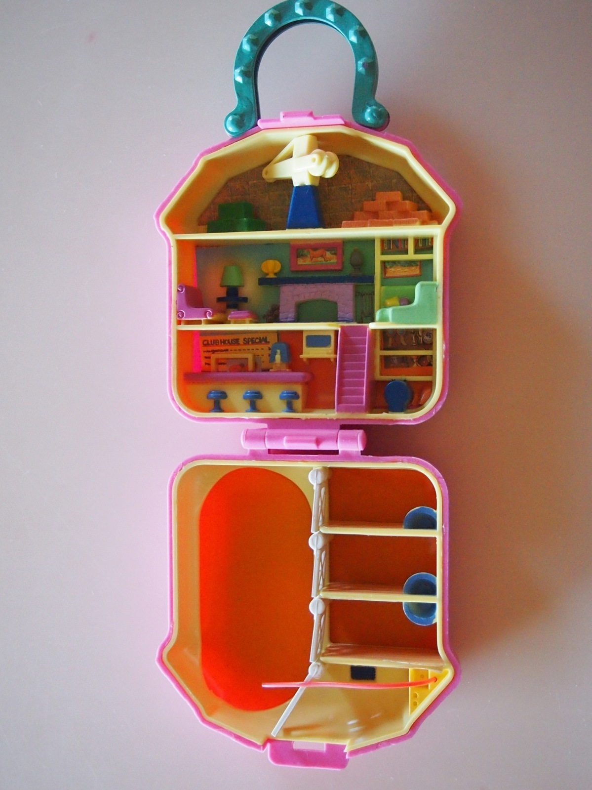 Polly Pocket Bluebird Pink Horse Stable And 50 Similar Items