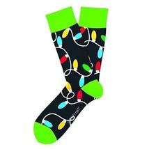Lotsa Lights Christmas Holiday Fun Novelty Socks Two Left Feet  Dress SO... - $10.49
