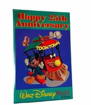 Walt Disney World button pinback pin souvenir disneyland toontown annive... - $17.37