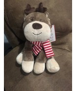 CARTERS Just One You Reindeer Plush Striped Scarf Christmas Stuffed Anim... - $23.33