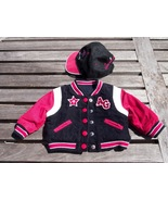 American Girl Black Red White Baseball Jacket C... - $19.95