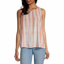 a.n.a. Women's Round Neck Sleeveless Tank Top Shirt XL Spanish Tile Tie ... - $19.79