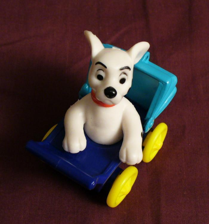 McDonalds 101 Dalmatians Dog In Blue Baby Carriage