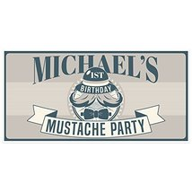 Little Man Mustache Birthday Banner Party Decoration Backdrop - €18,94 EUR