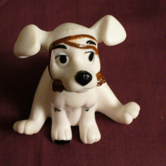 McDonalds 101 Dalmatians DOG WITH BROWN LEASH ON FACE