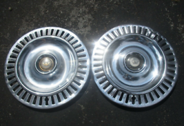 Genuine 1955 1956 Chrysler Imperial 300 15 inch hubcaps wheel covers beaters - $27.70