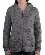 Bench Injection Zip-Up Black White Textured S Hoodie Hooded Cotton Blend Sweater
