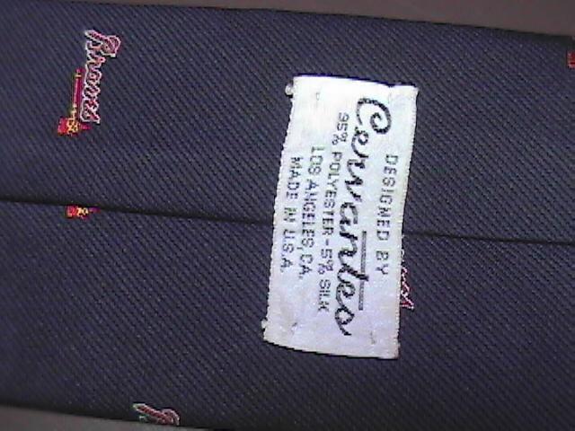 Cervantes Silk Neck Tie Blues Braves Major League Baseball Braves Tomahawk Logo