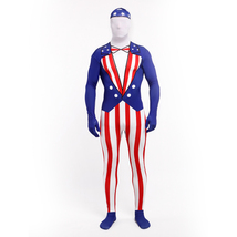 USA National Flag American Flag Bodysuit Zentai Catsuit Tights Costume - $59.74
