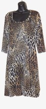 Connected Apparel Women's Animal Print Jersey Dress Size: 12