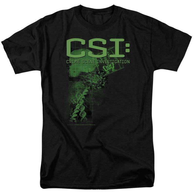 CSI T-shirt Crime Scene Investigation Crime drama TV series graphic tee CBS124