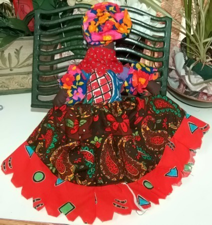 Caribbean Cloth Handcrafted Doll