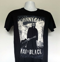 Johnny Cash Man in Black T Shirt Mens Small Flag Wings Cotton - $21.73