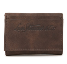 Levi's Elgin Leather RFID Trifold Wallet BROWN - $14.80
