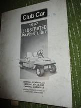Vintage 1997 CLUB CAR Carryall ILLUSTRATED PARTS LIST 300 - $48.30